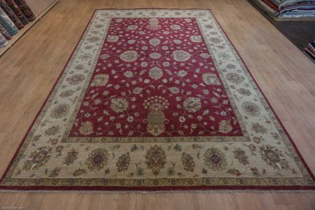Hand Knotted Agra Ziegler Rug From India