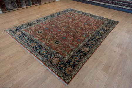 Hand-Knotted Indo Ziegler Rug From India