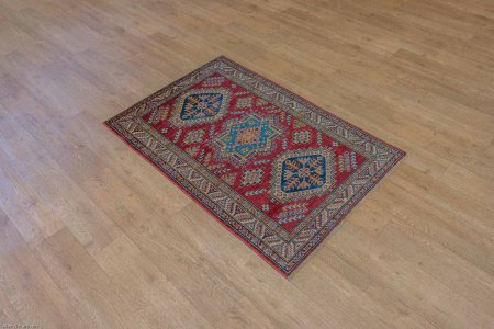 Hand Knotted Kazak Rug From Afghanistan