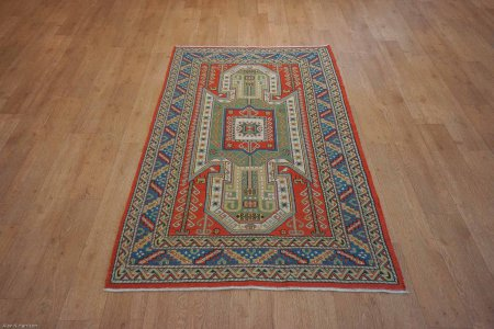 Hand-Knotted Soumak Soumak Kilim From Turkey