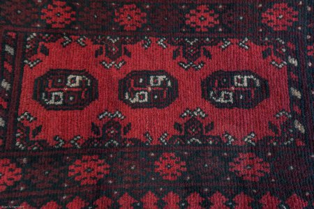 Hand-Knotted Pushti Rug From Afghanistan
