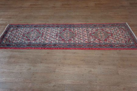 Hand-Knotted Tajabad Runner From Iran (Persian)