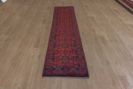 Hand Knotted Khan Mahomadi Runner From Afghanistan