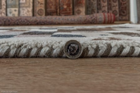 Hand Knotted Indo Gabbeh Runner From India
