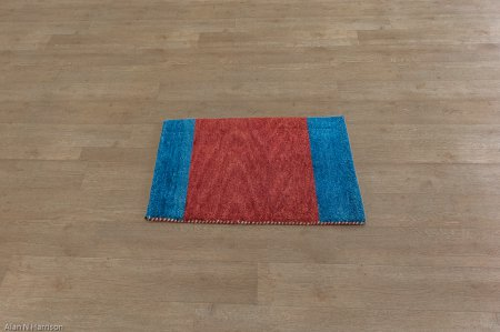 Hand-Knotted Indo Gabbeh Rug From India