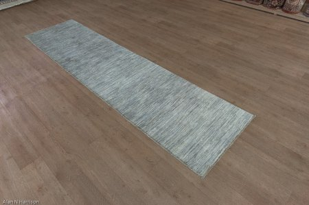 Hand Knotted Berber Natural Runner From Afghanistan
