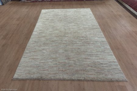 Hand Knotted Berber Natural Rug From Afghanistan