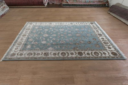 Hand-Knotted Royal Taj Rug From India