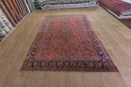 Hand-Knotted Sarouq Rug From Iran (Persian)