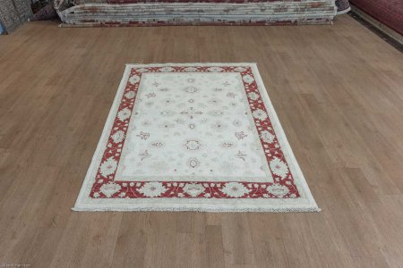 Hand Knotted Ziegler Rug From Afghanistan