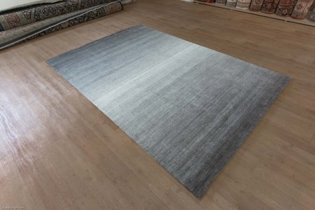 Hand-Knotted Amber Gabbeh Rug From India