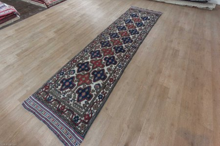Hand-Knotted Barjasta Runner From Afghanistan