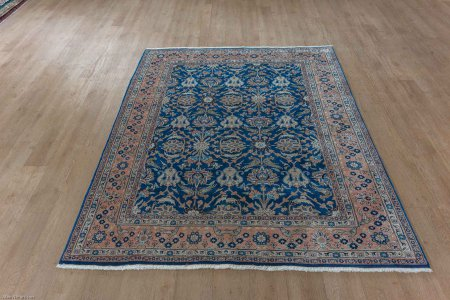 Hand-Knotted Veramin Rug From Iran (Persian)