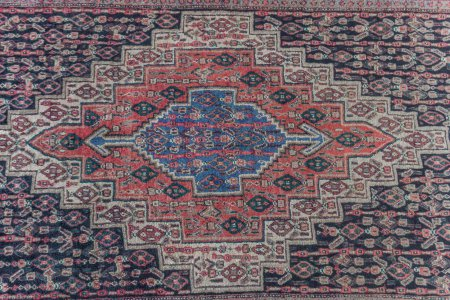 Hand-Knotted Senneh Rug From Iran (Persian)