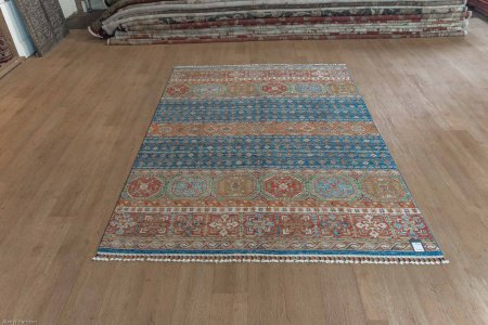Hand-Knotted Kashgari Rug From Afghanistan