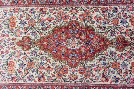 Hand-Knotted Qum Wool Runner From Iran (Persian)