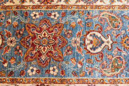 Hand-Knotted Fine Sozani Runner From Afghanistan