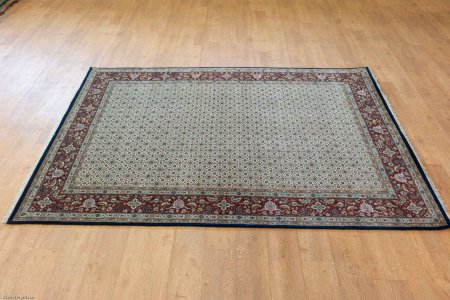 Hand Knotted Herati Rug From India