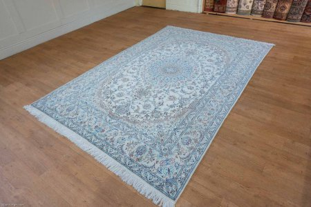 Hand-Knotted Nain Rug From Iran (Persian)