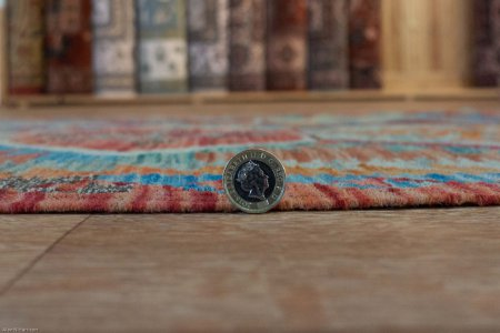 Hand Knotted Mazar Kilim From Afghanistan