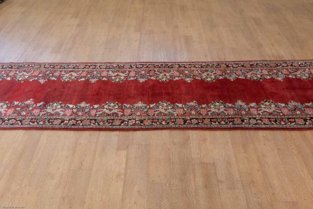 Hand-Knotted Mahal Runner From Iran (Persian)