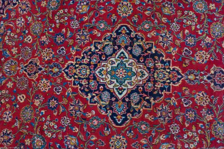 Hand Knotted Kashan Rug From Iran (Persian)