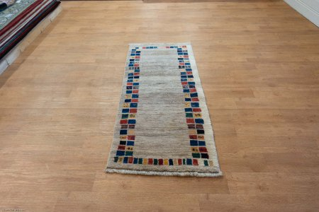 Hand-Knotted Gabbeh Rug From Iran (Persian)