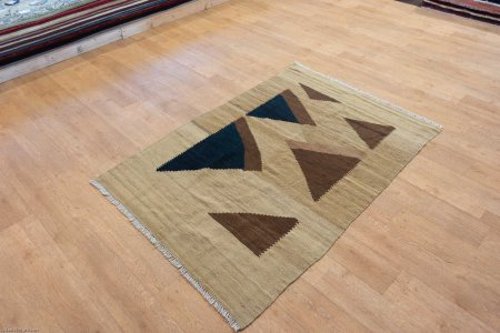 Hand-Knotted Kilim Kilim From Iran (Persian)