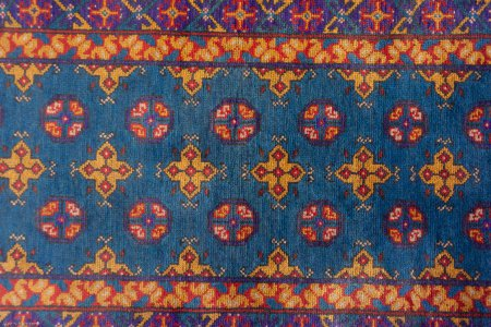 Hand Knotted Aqcha Runner From Afghanistan
