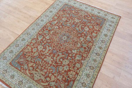 Hand-Knotted Imperial Jewel Rug From India