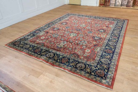 Hand-Knotted Mashad Palace Rug From India
