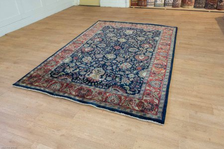 Hand Knotted Mashad Palace Rug From India