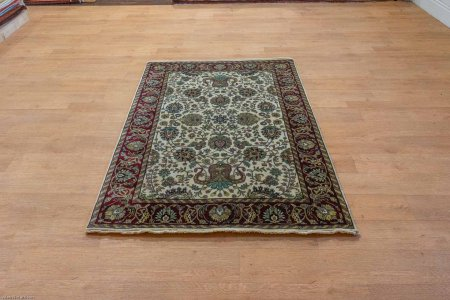 Hand-Knotted Mashad Rug From Iran (Persian)