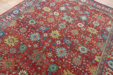 Hand Knotted Indo Mahal Rug From India