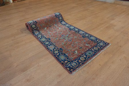 Hand-Knotted Indo Serapi Runner From India