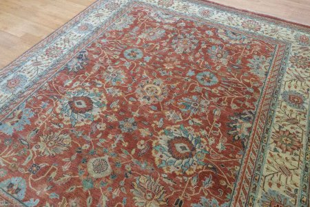 Hand Knotted Indo Serapi Rug From India