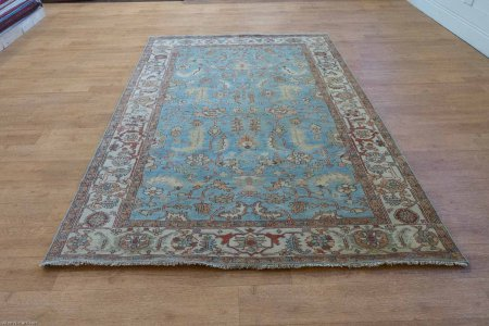 Hand-Knotted Indo Serapi Rug From India