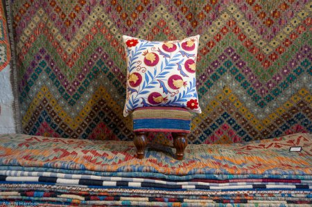 Hand Made Sozani Embroidered Cushion From Turkey