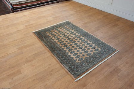 Hand-Knotted Bokhara Rug From Pakistan
