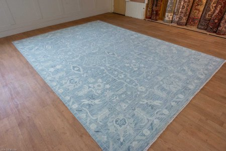 Hand-Knotted Tonal Rug From India