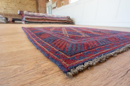 Hand-Knotted Mushwani Rug From Afghanistan