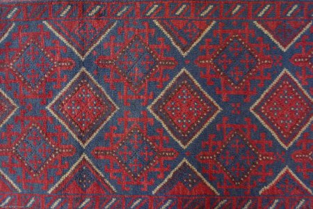 Hand Knotted Mushwani Runner From Afghanistan