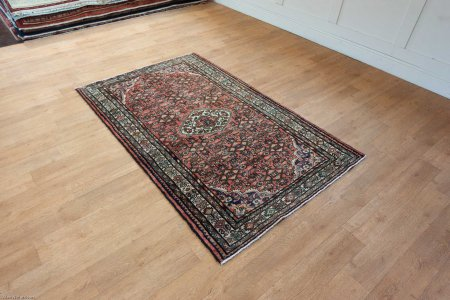 Hand Knotted Hamadan Rug From Iran (Persian)