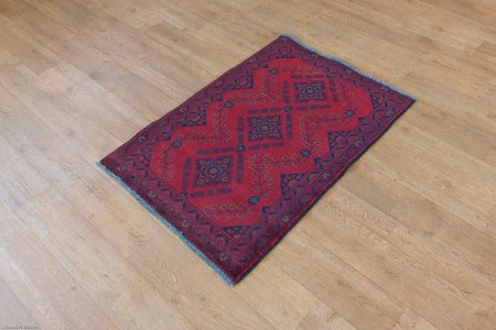 Hand Knotted Khan Mahomadi Rug From Afghanistan