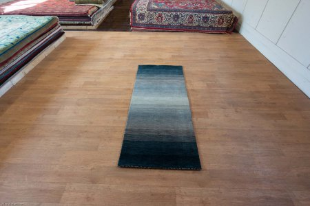 Hand-Knotted Rothco Runner From India
