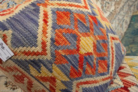 Hand Made Mazar Kilim Cushion From Afghanistan