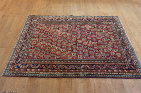 Hand-Knotted Sherwan Rug From Pakistan