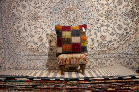 Hand Made Patchwork Cushion From Afghanistan