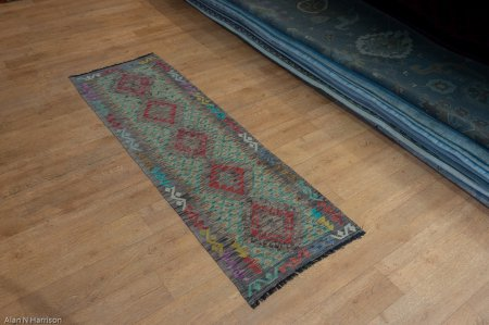 Hand Made Mazar Runner From Afghanistan