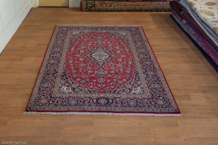 Hand-Knotted Kashan Rug From Iran (Persian)
